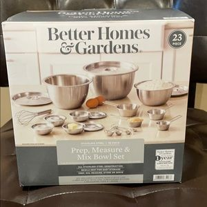 Better Homes & Gardens Steel Mixing Set, 23 Pc